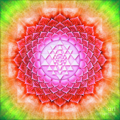 Shakti Digital Art - Sri Yantra - Lotus II by Dirk Czarnota