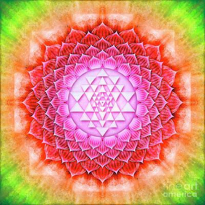 Sriyantra Digital Art - Sri Yantra - Lotus II by Dirk Czarnota