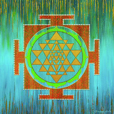 Painting - Sri Yantra Mandala by Olesea Arts