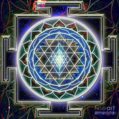 Digital Art - Sri Yantra by Mynzah