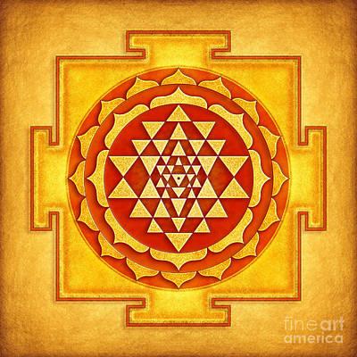 Sriyantra Digital Art - Sri Yantra Artwork No. 4 by Dirk Czarnota