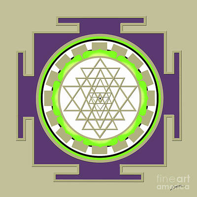 Digital Art - Sri Yantra Of Prosperity by Lance Sheridan-Peel