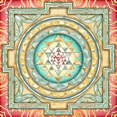 Sri Yantra  Art Print by Sampad Art