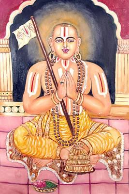 Srimadh Ramanujar Art Print by Sankaranarayanan