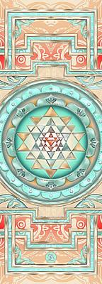 Sriyantra Mixed Media - Sriyantra Yoga Mat by Sampad Art