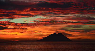 Photograph - Stromboli Sunrise by Barbara Walsh