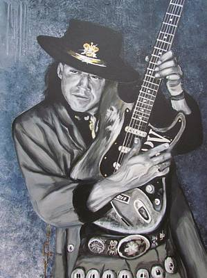 Srv - Stevie Ray Vaughan  Art Print by Eric Dee