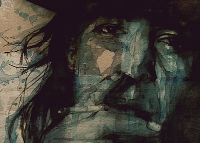 Numbers Painting - SRV by Paul Lovering