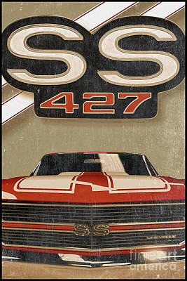 Chevy Ss Wall Art - Digital Art - Ss 427 by Cinema Photography