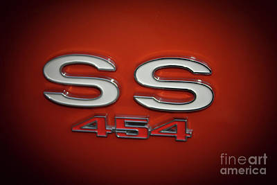 Photograph - Ss 454 Chevy Automobile Art by Reid Callaway
