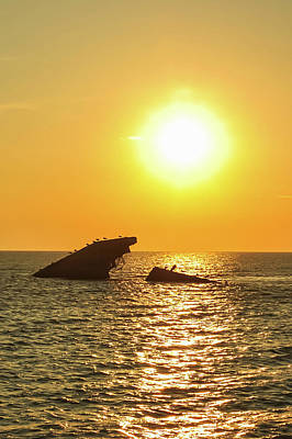 Photograph - Ss Atlantus Sunset Cape May Point Nj V by Terry DeLuco