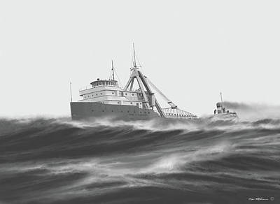 Bradley Painting - Ss Carl D. Bradley by Captain Bud Robinson