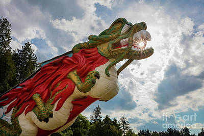 British Columbia Photograph - S.s. Empress Dragon Figurehead by Inge Johnsson