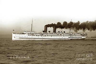 Photograph - S.s. Harvard Passenger Ship Circa 1927 by California Views Mr Pat Hathaway Archives