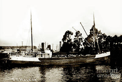 Photograph - Steam Schooner Helene At San Padero by California Views Mr Pat Hathaway Archives