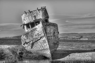 Ss Point Reyes Bw Art Print by Jerry Fornarotto