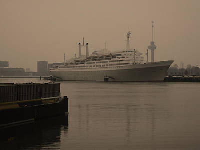 Ship Photograph - Ss Rotterdam Holland America Line by Nop Briex