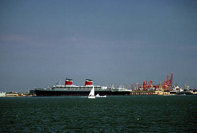 Photograph - Ss United States At Norfolk, Va by John Harding