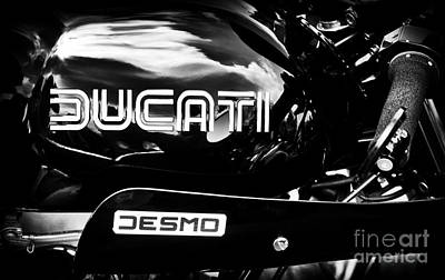 Photograph - Ss900 Desmo In Black by Tim Gainey