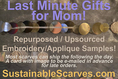 Photograph - Sscarves Last Minute Gifts For Mom Flyer by Heather Kirk