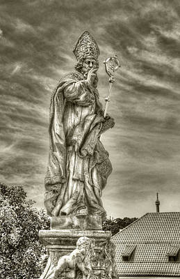 Photograph - St Adalbert Charles Bridge by Michael Kirk