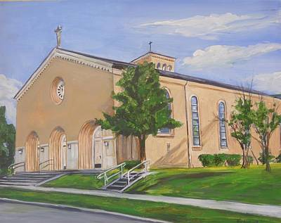 Painting - St Agnes Catholic Baton Rouge by Bryan Bustard