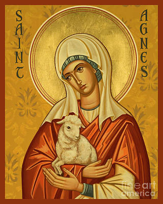Painting - St. Agnes - Jcagn by Joan Cole