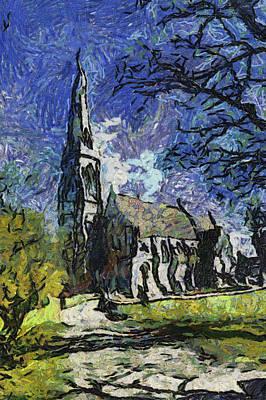 Digital Art - St Alban's Church by Bruce