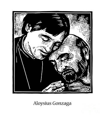Painting - St. Aloysius Gonzaga - Jlalg by Julie Lonneman