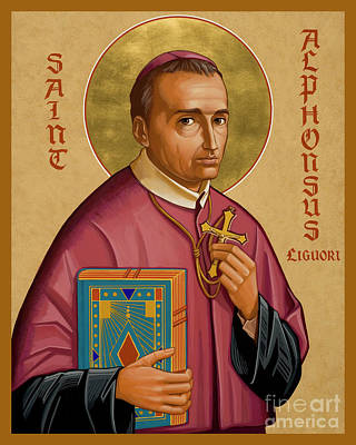 Painting - St. Alphonsus Liguori - Jcalp by Joan Cole