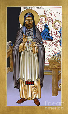 Rublev Trinity Painting - St. Andrei Rublev - Lwrub by Lewis Williams OFS