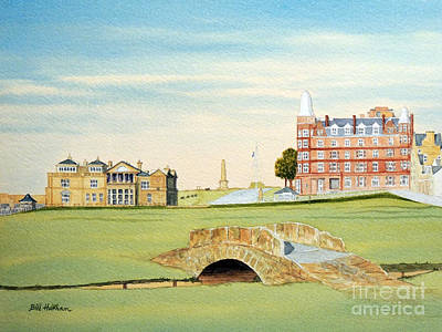 Golf Art Painting - St Andrews Golf Course Scotland - Royal And Ancient by Bill Holkham