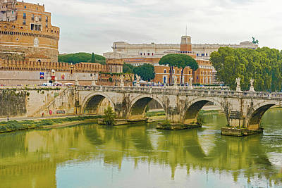 Popstar And Musician Paintings Royalty Free Images - St. Angelo Bridge in Rome,  Italy. Royalty-Free Image by Marek Poplawski