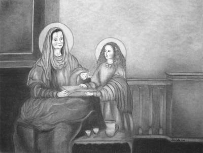 Painting - St. Anne And Bvm by Alma Bella Solis