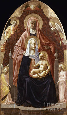 Photograph - St. Anne, Madonna & Child by Granger
