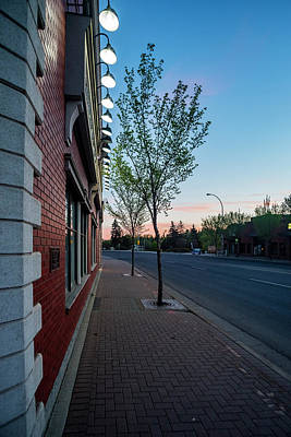 Print featuring the photograph St. Anne Street At Dusk by Darcy Michaelchuk