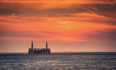 Photograph - St Annes An Sunset  by Mark Mc neill
