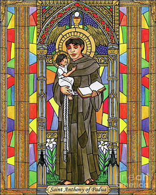 Painting - St. Anthony Of Padua - Bnant by Brenda Nippert