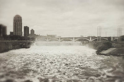 Photograph - St. Anthony Falls In Spring by Heidi Hermes