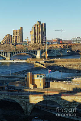Bridge Photograph - St. Anthony Falls by Natural Focal Point Photography