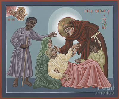 Painting - St Anthony Heals The Sick 228 by William Hart McNichols