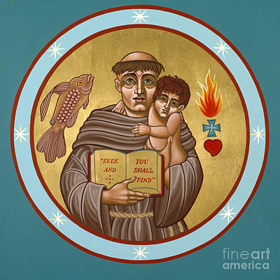 Painting - St Anthony Of Padua 134 by William Hart McNichols