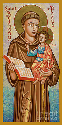 Painting - St. Anthony Of Padua - Jcapa by Joan Cole