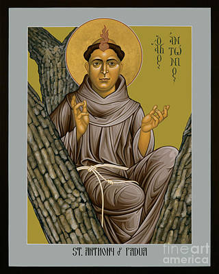 Painting - St. Anthony Of Padua - Rlaop by Br Robert Lentz OFM