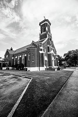 Photograph - St. Anthony Padua Catholic Church - Bw by Scott Pellegrin