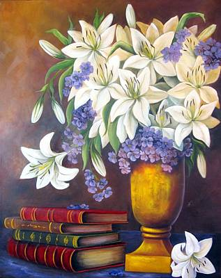 Painting - St. Anthony's Lilies by Katia Aho