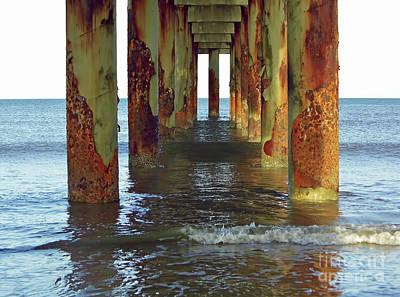 Photograph - St Augustine Beach Pier by D Hackett