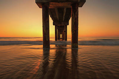 Photograph - St Augustine Beach Pier Morning Light by Stefan Mazzola