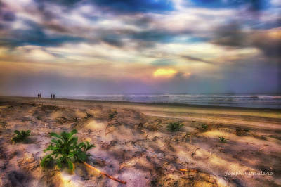 Photograph - St Augustine Beach Sunrise Colors by Joedes Photography
