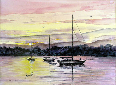 Painting - St. Augustine Boats by Sam Sidders